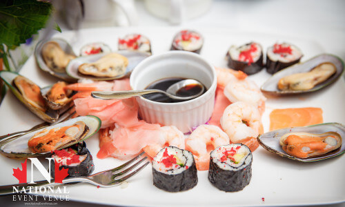 Example of catering sushi