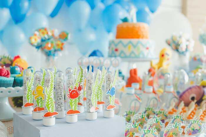Under The Sea Themed Birthday Party Via Karas Blue Decorations