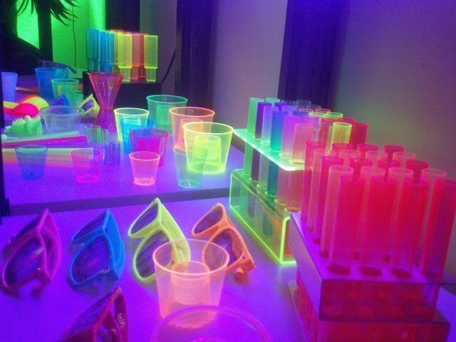 Neon Or Glow In The Dark Is One More Of Most Popular Teenage Birthday Party Ideas